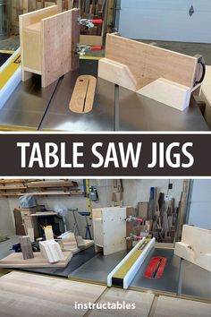 Make a set of miter and tenon jigs to use with your table saw, plans included. #woodworking #workshop #woodshop #tools #splinemiter