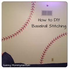 DIY Painted Baseball Stitching
