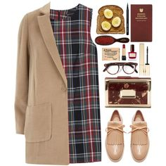 A fashion look from October 2014 featuring MANGO dresses, Dorothy Perkins coats and Marni oxfords. Browse and shop related looks.