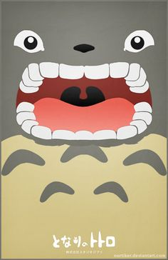 Totoro, when you feed him bamboo. Hayao Miyazaki, Totoro Poster, Le Vent Se Leve, Japon Tokyo, Chibi, Studio Ghibli Movies, Fanart, Kawaii, Howls Moving Castle