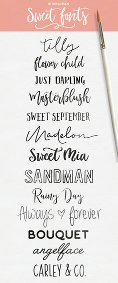 Here are some fresh, sweet modern calligraphy & handwritten fonts! Some free some for a sweet deal.