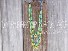 Bright statement necklace with just paperclips & tape