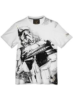 Star Wars Storm Trooper Sketch T-Shirt By Marc Ekco (Bleach White) $28.00
