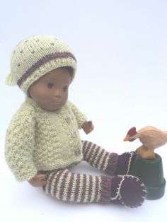 Outfit for Baby Sasha Doll Charming Hand Knitted 3pcs Set Plus Shoes | eBay