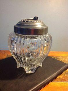 Vintage Cooperative Flint Glass Co. EAPG Tobacco Jar