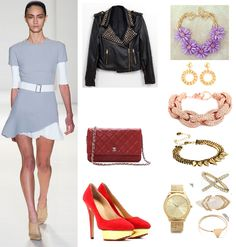 #VictoriaBeckham #CharlotteOlympia #dress #jacket #bag #shoes #watch #outfit #OutfitsOfTheDay #OOTD #look #LookOfTheDay #LOTD #mode #moda #fashion #fashionista #fashionstyle #style #love #cute #sweet #sexy