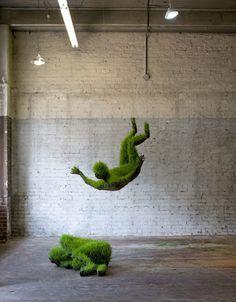 Esculturas vivas, parecidas a las que hacemos nosotros :D