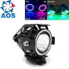12.07$  Buy here - http://ali3ar.shopchina.info/go.php?t=32802020984 - Motorcycle LED Headlight Fog Light 125W 3000LM Devil Eyes Angel Eye DRL LED Moto Fog lamp Spot light  #buyininternet