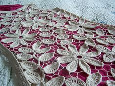 Outstanding Crochet: Irish Crochet Beige Flower tunic