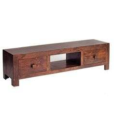 Mango Wood Plasma Tv Stand Media Unit