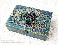 LikeArtStudio by Ola Khomenok: Mixed Media. Altered wooden box. Sea.