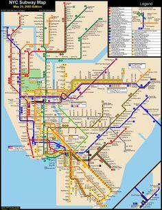 cool map of new york metro