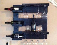 Wine rack rustic wine rack reclaimed wood wall wine rack by TheWoodenOwl | Etsy