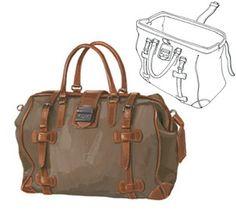 Vintage Waxed Canvas Safari Bag > Luggage & Bags | The J. Peterman Company