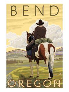 Cowboy & Horse, Bend, Oregon