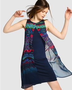 Desigual women& short dress with layers de verano para mujeres mayores de 40 casual Fashion Over 50, Look Fashion, Diy Fashion, Fashion Dresses, Womens Fashion, Polka Dot Summer Dresses, Summer Dress Outfits, Summer Outfits Women, Diy Moda