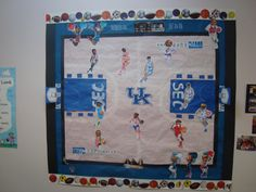 Bulletin Board for March Madness (Kentucky vs. Ohio State)