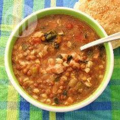 Slow-cooker slow and healthy soup recipes-to-try Crock Pot Slow Cooker, Slow Cooker Recipes, Crockpot Recipes, Cooking Recipes, Diabetic Recipes, Hearty Soup Recipes, Pork Soup, Frozen Spinach, Homemade Soup