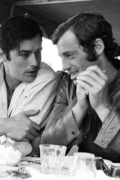 Alain Delon and Jean Paul Belmondo