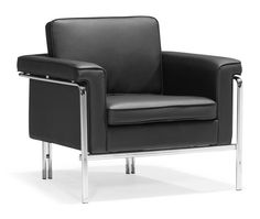 Zuo Modern 900160  Singular Arm Chair  in Black