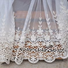 Off White Lace Trims Venice Lace Embroideried Floral by Lacebeauty, $5.99