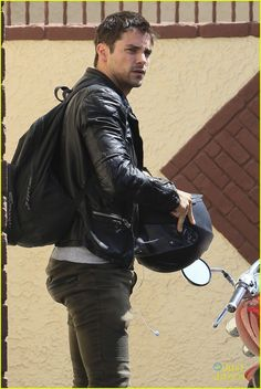 Full Sized Photo of brant daugherty dwts practice thurs 01 Biker Leather, Leather Men, Leather Jackets, Brant Daugherty, Eye Candy Men, Awesome Beards, Bear Men, Attractive Men, Cute Guys