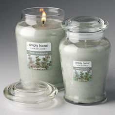 Yankee Candle Simply Home Fresh Eucalyptus Jar Candles.....Another nice scent.