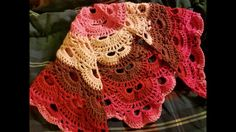 "Crochet ""The Virus Shawl"" Tutorial - This video was so easy to follow! He shared helpful hints along the way."