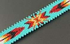 Native Star...Native American Inspired.Loom woven.Miyuki