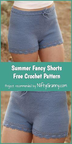 Summer Fancy Shorts Free Crochet Pattern #diy #diyproject #diycrafts #crochet #crochetpatterns #pattern #freepattern #patternsforcrochet #shorts #summer #summerstyle #beach #beachwear #beachstyle #amazing #handmade #crafts #fancy #yarn