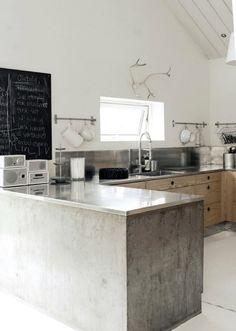 Goed idee om kast van beton te gieten. Of zou het houtbouw zijn met beton stuc laag?