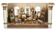 "Wonderfully Furnished Mid-19th Century Doll Room ""The Art Gallery"". Lot # 133."