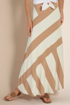 A Modern Classic Skirt - A-lined Striped Skirt, Clothing | Soft Surroundings