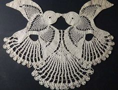 Two Kissing Swallows Vintage Crochet Doily