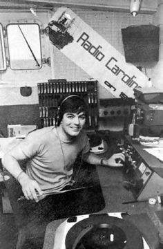 Tony Blackburn Radio Caroline south studio