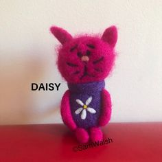 Daisy the Needle Felted little cat. Felted cat. Memory cat. | Etsy Needle Felted Cat, Needle Felted Animals, Felt Animals, Cat Lover Gifts, Cat Lovers, Felt Gifts, Unusual Animals, Quirky Gifts, Felt Cat