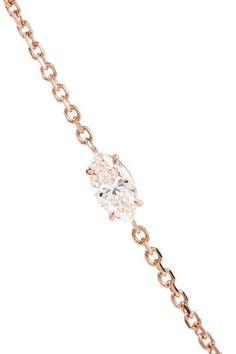 Anita Ko - 18-karat Rose Gold Diamond Bracelet - one size