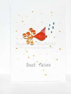 Best Fishes  Birthday quilling card fish  funny by szalonaisa, $8.00