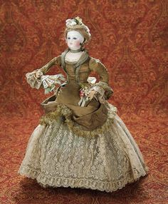 Rare French Bisque Mechanical Waltzing Lady by Vichy