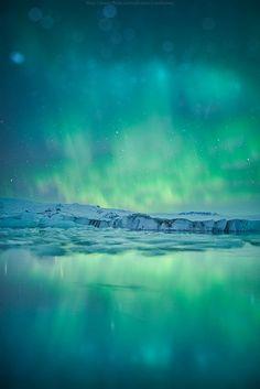 Emerald flame, Iceland.