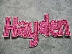 Iron On Applique  Name Letters by BigBlackDogDesigns on Etsy, $4.99