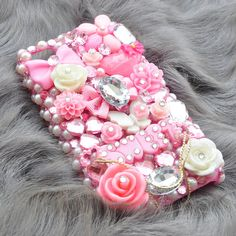 Custom iphone 5 rhinestone case in Candy Pink by DemiGoddessCo, $59.00