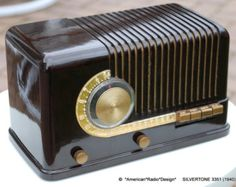 Silvertone Art Deco Radio (1940) Model 3351 - Orig Box Papers Clean & Works Price Includes Shipping within USA - Edit Listing - Etsy