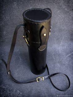 Мужские сумки ручной работы. Ярмарка Мастеров - ручная работа. Купить Тубус кожаный мод.3, защитный, для оружейной оптики. Handmade.