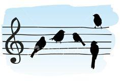 Birds on A Wire   Stock Illustration   iStock