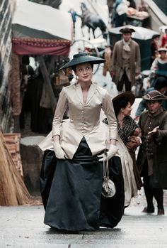 "Outlander Season 2 2016... Terry Dressbach's recreation of Dior's ""Bar Suit"" for Claire (Cait)."