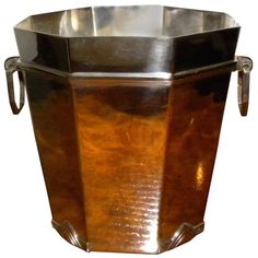 French Art Deco Champagne Bucket | From a unique collection of antique and modern tableware at https://www.artdecocollection.com/tableware