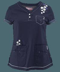 Koi Scrubs Limited Edition Happy Trails Y-Neck Print Top Cute Scrubs, Koi Scrubs, Scrubs Outfit, Scrubs Uniform, Scrub Shoes, Work Uniforms, Medical Scrubs, Costume, Work Attire
