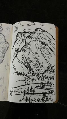 Mountain sketches from my Banff climbing weekend, #1.