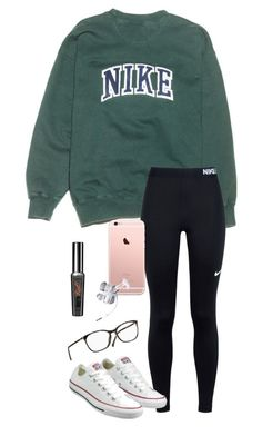 Untitled #695 by shelbycooper ❤ liked on Polyvore featuring NIKE and Converse